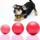 Pet Dog Cat Ball Rubber Elastic Ball Bite Resistant Training Chew Play Toy Red