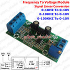 Frequency Khz to Voltage 0-10V Pulse Signal Transmitter Linear Converter Module