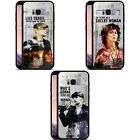 OFFICIAL PEAKY BLINDERS CHARACTER ART BLACK HYBRID GLASS CASE FOR SAMSUNG PHONES