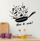 Vinyl Wall Decal Time To Cook Kitchen Decor For Housewives Stickers (4321ig)
