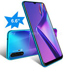 "Cheap Unlocked 6.6"" Android 9.0 Mobile Smart Phone Quad Core  Gps 2sim Wifi New"