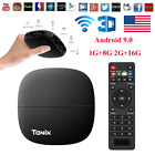 Tanix H1 H2 Smart 4K TV Box Android 9.0 Quad Core 2.4GHz WiFi HD Media Player