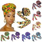 African Satin Bonnet Ribbon Headwrap Double Layer Headscarf Women Hair Cover