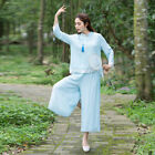 Women's clothing Suit Two Pieces Chinese Style Nine Pants Kung