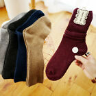 6 Pairs Women 90 Cashmere Wool Thick Warm Soft Comfort Sports Solid Casual Socks