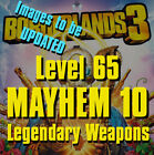 Borderlands 3 - Buy 2 get 1 FREE - Level 65 Mayhem 10 Legendary Weapons PS4 Xbox