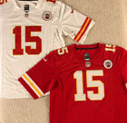 NWT Patrick Mahomes #15 Kansas City Chiefs MEN'S Stitched RED/WHITE Jersey