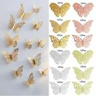 12pcs 3d Butterfly Wall Stickers Art Decals Home Room Decorations Decor 4 Types
