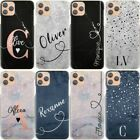 Initials Phone Case, Personalised Name Blue Marble Hard Cover For Nokia 1/2/3/6