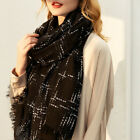 Merino Wool Women Scarf Stole Wrap with Bling Threads