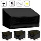 Black Waterproof Outdoor Garden Bench Furniture Seat Cover 2/3/4 Seater Protect