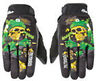 Joe Rocket Mens Black/Green/Gold Artime Joe Destroy Graffiti Motorcycle Gloves