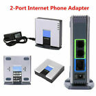 Unlocked for Linksys PAP2T VoIP Phone Adapter 2 Phone Ports Gateway SIP V2 RJ45