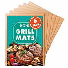 Kohi Copper Grill Mats Non Stick for Gas Grill Charcoal Grill, Heavy Duty Safe 6