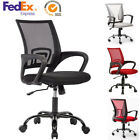Ergonomic Swivel Mid back Computer Office Desk Mesh Chair Heavy Duty Metal Base
