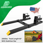 2000lb Tractor Pallet Forks Bucket Forks Clamp On For Backhoe/Skid Steer Loader