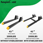 Kyпить 2000lb Tractor Pallet Forks Bucket Forks Clamp On For Backhoe/Skid Steer Loader на еВаy.соm