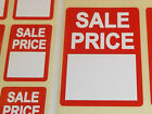 Bright Red SALE PRICE Point Stickers Swing Tag Sticky Self Adhesive Labels