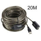 66FT / 20M USB 2.0 Male to Female Extension Extend Extender Cable Cord Black