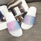 Womens Ladies Flat Sliders Summer Beach Sandals Mules Slippers Shoes Size UK3-8