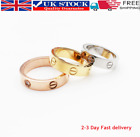 Uk Premium High Quality Stainless Steel Love Ring Gold Silver Rose 4mm