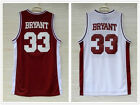 Kobe Bryant Lower Merion High School #33 Basketball Jersey Red White Embroidered