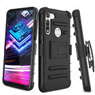 For Motorola Moto G Fast Shockproof Belt Clip Stand Case Cover /Screen Protector