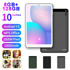 "10"" Android 10.0 Ultra-thin Wifi 4G 6 128GB Tablet PC Dual SIM Triple Camera"
