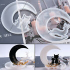 Christmas Deer Moon Cat Silicone Resin Casting Mold Jewelry Epoxy Mould Xmas