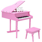 Piano 30-key Children Mini Classical Shape Grand Piano Bench Child Musical Toy