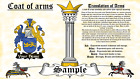 Tombson-Tomsun COAT OF ARMS HERALDRY BLAZONRY PRINT