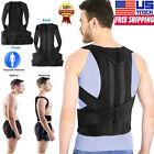 For Men Women Adjustable Posture Corrector Back Brace Low Shoulder Support Belt