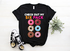Check Out My Six Pack Funny Donut Lover Women T Shirt Cotton Black S-5XL