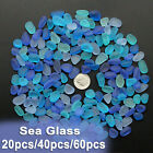 Sea Beach Glass Mixed Color Bulk Lot Blue Purple Jewelry Pendant Decor 10-16mm