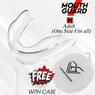 Boxing Gel Gum Shield Mouth Guard Teeth Protector Rugby Grinding Senior & Junior