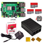 Raspberry pi 4 Basic Kit 2/4/8GB with case SD card US power adapter heat sink