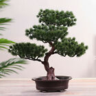 Artificial Fake Green Plant Bonsai Potted Simulation Pine Tree Home/office Decor
