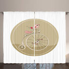 Bike Party Curtains Bird on Vintage Bicycle
