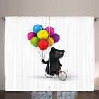 Bike Party Curtains Happy Bear on Bicycle
