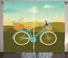 Bicycle Curtains Camping Picnic Themed Bike