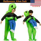 Adult Kids Inflatable Monster- Costume Green Alien Carrying Me Halloween Cosplay
