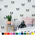 18 Panda Wall Decals Nursery Decor Cute Panda Face Vinyl Wall Sticker For Kids