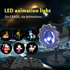 Dynamic Animation Projector Light Christmas Projection Lamp With 4 Patterns US