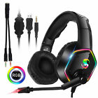 Gaming Headset Headphone with MIC Noise Canceling for PS5 Xbox Switch Laptop PC