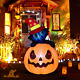 Twinkle Star 6 Ft Halloween Lighted Decorations Inflatables Pumpkin Cat Outdoor
