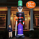 TURNMEON 12Ft High Halloween Inflatables Decor Blow Up Skull Skeletons Ghost Air