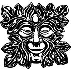 'Green Man' Rubber Stamp RS018929