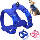 Small Dog Pet Harness Adjustable Control Puppy Dogs Plain Soft Leather Vest S/M