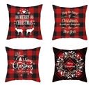 "Red Christmas Cushion Covers Home Decor Throw Pillow Case Size 16"" 18"" 20"" 24"""