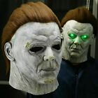 LED Horror Halloween Michael Myers Killer Mask Cosplay Scary Latex Fear Costume